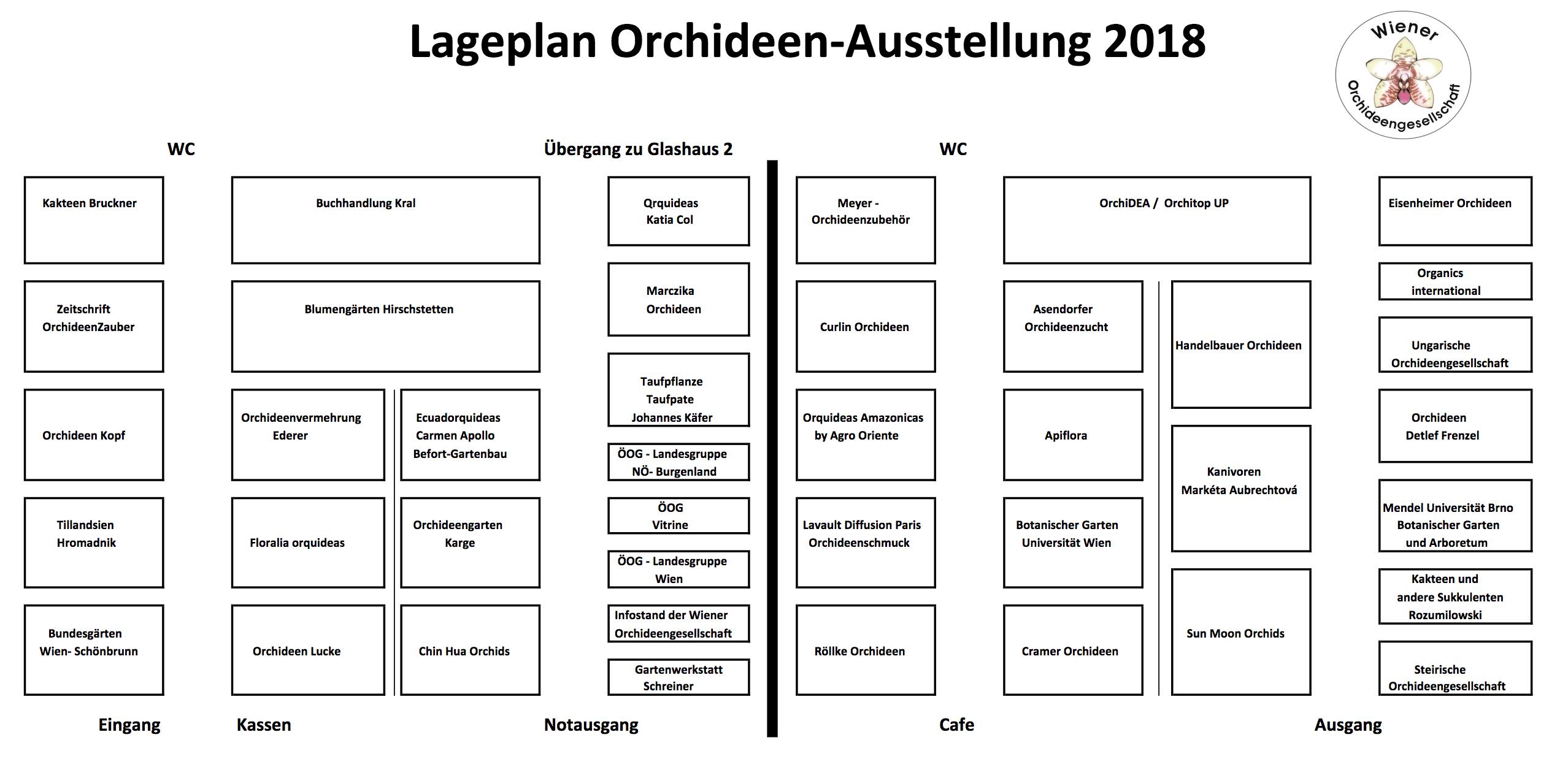 Ausstellerplan | Orchideen- & Tillandsienschau